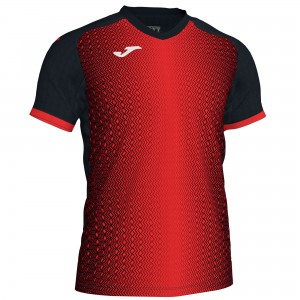 Koszulka do tenisa JOMA SUPERNOVA T-SHIRT BLACK-RED