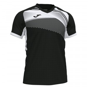 Koszulka do tenisa JOMA SUPERNOVA II T-SHIRT BLACK-WHITE