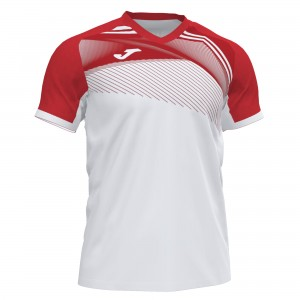 Koszulka do tenisa JOMA SUPERNOVA II T-SHIRT WHITE-RED