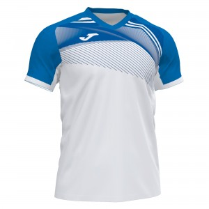 Koszulka do tenisa JOMA SUPERNOVA II T-SHIRT WHITE-ROYAL