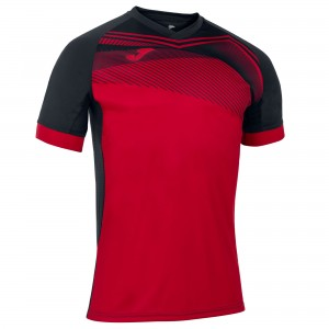 Koszulka do tenisa JOMA SUPERNOVA II T-SHIRT RED-BLACK