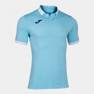 Koszulka polo do tenisa JOMA GOLD II SKY BLUE S/S