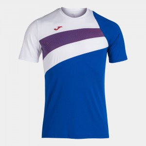 Koszulka do tenisa JOMA ANCARES T-SHIRT ROYAL-WHITE-RED S/S