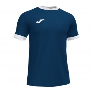 Koszulka do tenisa JOMA OPEN III SHORT SLEEVE T-SHIRT NAVY