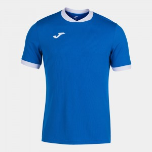 Koszulka do tenisa JOMA OPEN III SHORT SLEEVE T-SHIRT ROYAL