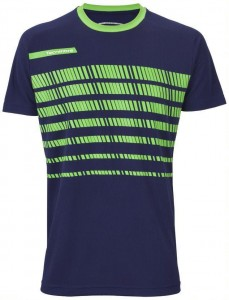 Koszulka do tenisa TECNIFIBRE F2 NAVY GREEN