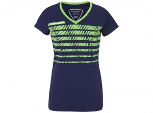 Koszulka do tenisa TECNIFIBRE LADY F2 NAVY GREEN