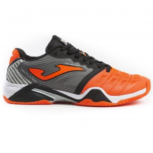 Buty do tenisa T.PRO ROLAND 908 ORANGE-BLACK ALL COURT