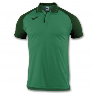 Koszulka polo do tenisa JOMA POLO TORNEO II GREEN S/S