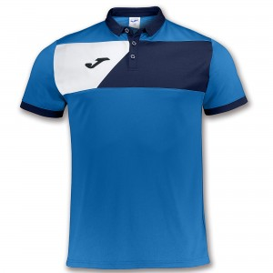 Koszulka polo do tenisa JOMA POLO SHIRT CREW II ROYAL S/S