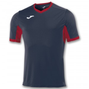 Koszulka do tenisa JOMA T-SHIRT CHAMPION IV NAVY-RED S/S