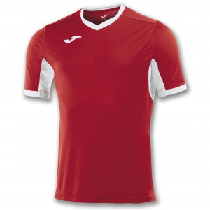 Koszulka do tenisa JOMA T-SHIRT CHAMPION IV RED-WHITE S/S