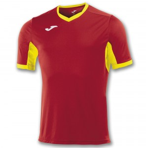 Koszulka do tenisa JOMA T-SHIRT CHAMPION IV RED-YELLOW S/S