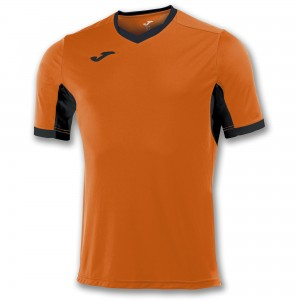 Koszulka do tenisa JOMA T-SHIRT CHAMPION IV ORANGE-BLACK S/S