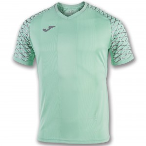 Koszulka do tenisa JOMA TSHIRT OPEN FLASH LIGHT GREEN S/S