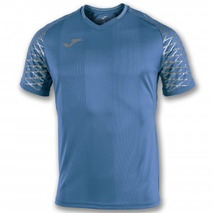 Koszulka do tenisa JOMA T-SHIRT OPEN FLASH ROYAL S/S