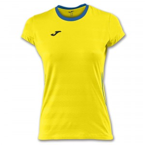 Koszulka do tenisa JOMA T-SHIRT MODENA WOMAN YELLOW S/S