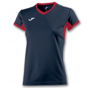 Koszulka do tenisa JOMA T-SHIRT CHAMPION IV NAVY-RED S/S WOMAN