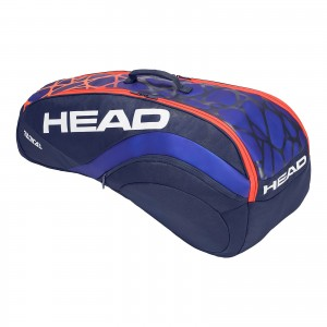 Torba tenisowa HEAD Radical 6R Combi (blue & orange)