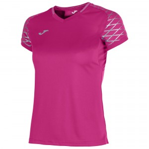 Koszulka do tenisa JOMA T-SHIRT OPEN FLASH PINK S/S WOMAN
