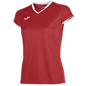 Koszulka do tenisa JOMA T-SHIRT GALAXY RED S/S WOMAN