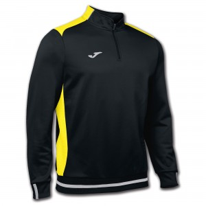 JOMA CAMPUS II SWEATSHIRT 1/2 ZIPPER BLACK-YELL