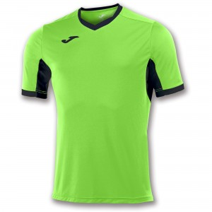 Koszulka do tenisa JOMA T-SHIRT CHAMPION IV LIME-BLACK S/S