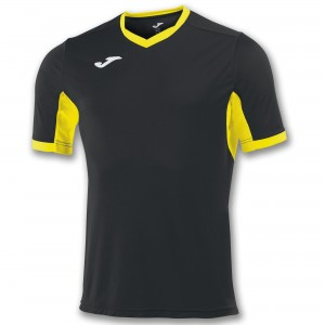 Koszulka do tenisa JOMA T-SHIRT CHAMPION IV BLACK-YELLOW S/S