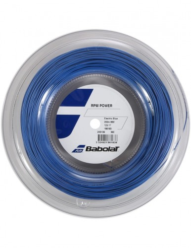 Naciąg tenisowy BABOLAT RPM Spin Power (electric blue) - 200 m